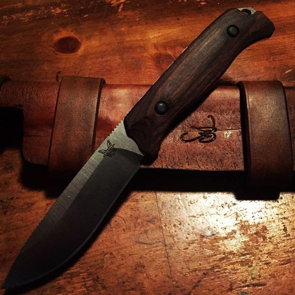 Benchmade - Always wanted a sheath like this. Knocked most of it out tonight. Need to let it fully dry and I'll sew and finish up tomorrow. Love the way it turned out....