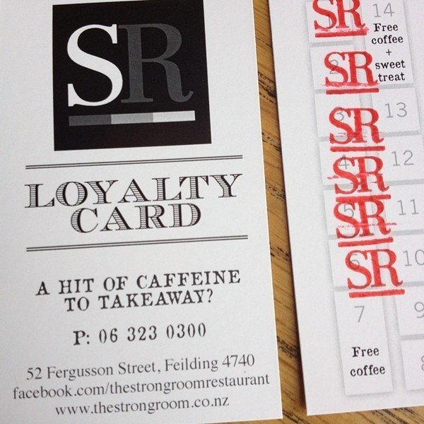 COFFEEUFEEL - Next time you are in grab our NEW Loyalty Card and reward yourself with a Free Coffees and Sweet Treats thestrongroomrestaurant #loyaltycard #havanacoffee...
