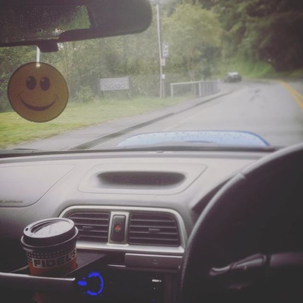 COFFEEUFEEL - Waking up after nightshift, 1st things 1st; a trip to Fidels Cafe for coffee. #coffee #havanacoffee #pickmeup #tired #subaru #drive #wellington #newzealand